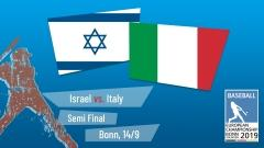 Euro 2019 - Semi Final - Israel vs. Italy