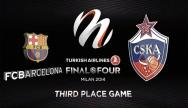 3rd place match: FC Barcelona Regal - CSKA Moskva