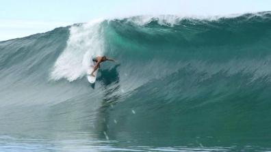Tube hunting at Teahupo'o