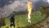 Fire Breathing + Base Jumping?!?