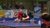 Fegerl with spectacular defense work against Ovtcharov