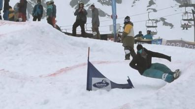 Terje Haakonsen Drops The Hammer At The Montafon Banked Slalom