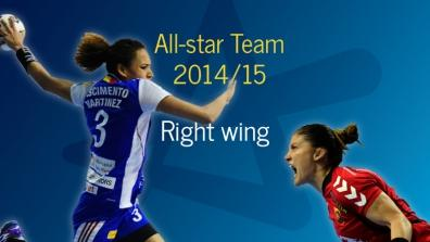 Women's All-star Team 2014/15: Right wing